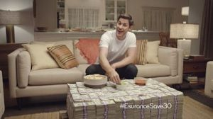 An image of actor John Krasinski in the ad