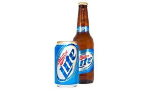 18704 Miller Lite can and bottle
