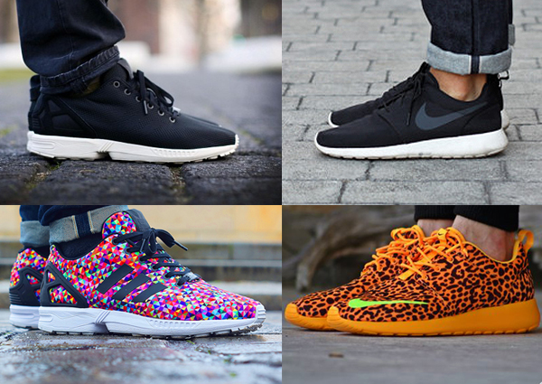 ... Adidas ZX Flux and Adidas Pure Boosts (competitors with the Nike  Roshe s) 599f13bac